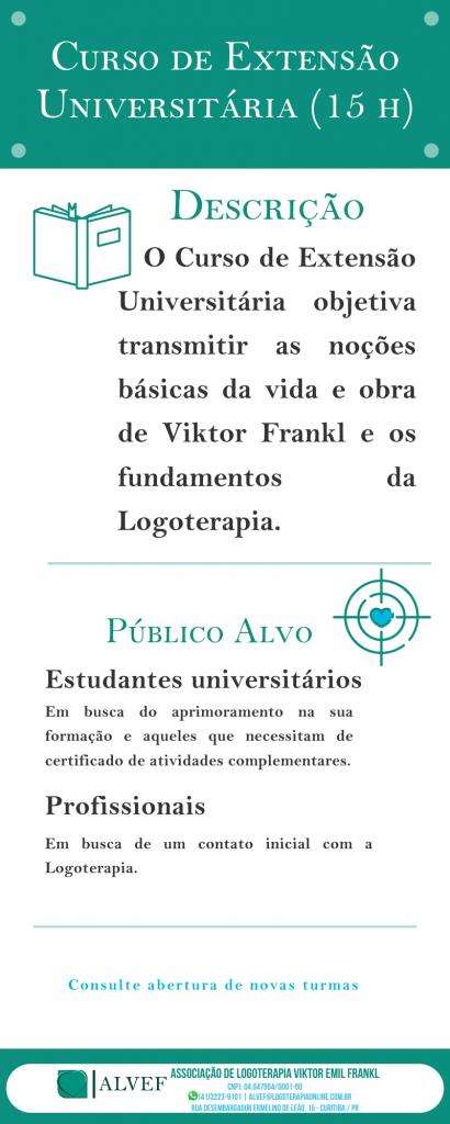 Curso de Extensão Universitária (15 h).